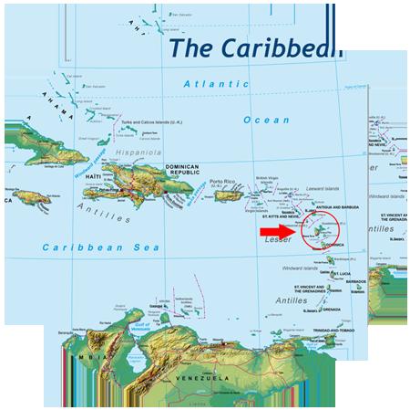 guadeloupe karta Guadeloupe reseguide guadeloupe karta